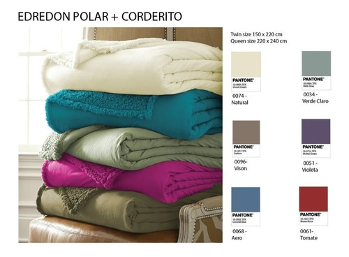 edredon polar corderito kavanagh 2 1/2 plazas 220 x 240
