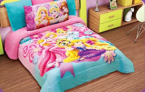 Edredon Princesas Hd Disney Matrimonial   $ 549.00 en Mercado Libre