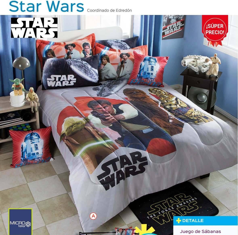 Edredon Star Wars Matrimonial   $ 1,899.00 en Mercado Libre