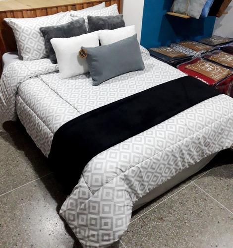 edredones king con juego de sábana