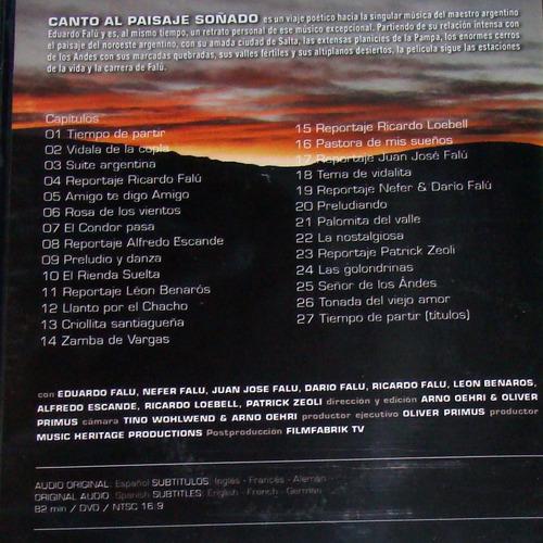 eduardo falu canto al paisaje soñado dvd  sellado