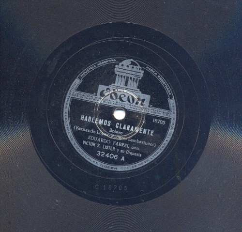 eduardo farrell disco de pasta 78rpm odeon32406