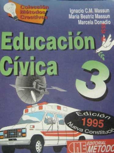 educación cívica 3      massun -massun-donadio  ed. métodos