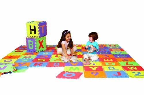 edushape edu-azulejos 36 pieza 6x6ft estera del juego, las