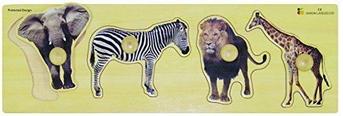 edushape giant wild animals puzzle 4 piezas