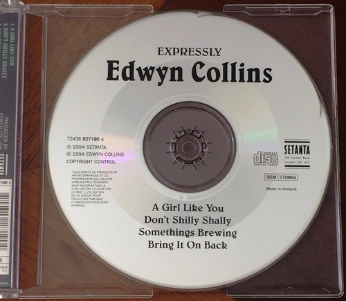 edwyn collins cd single a girl like you raro