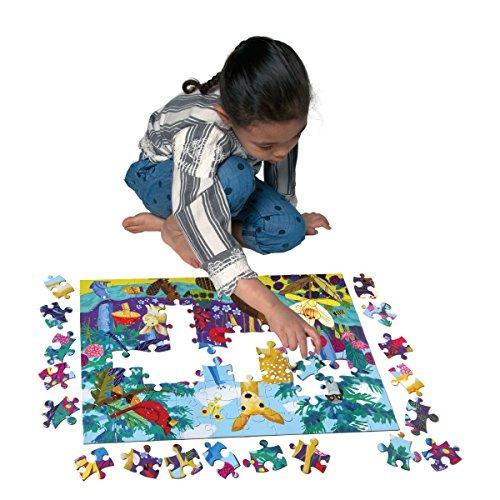 eeboo puzzle de la vida en la tierra 100 piezas