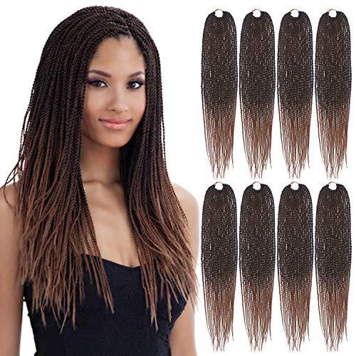 Eerya Senegalese Twist Crochet Hair 8 Packs 18 Inches Short