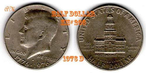 eeuu - half dollar del bicentanario - 1976 d