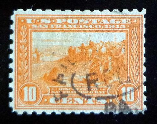 eeuu, sello sc. 400a s francisco 10c 1913 usado l8529