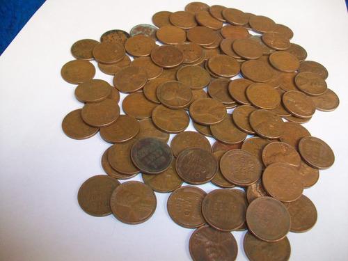 eeuu, un centavo espiga de trigo, varios años