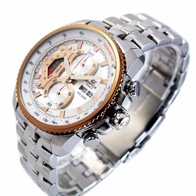 bee695ba2940 Ef-558d Relógio Casio Edifice Cronograph 100m Branco Rose - R  799 ...
