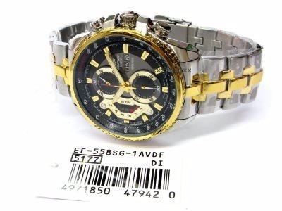 ef-558sg-1av relógio casio edifice cronograph 100% autentico