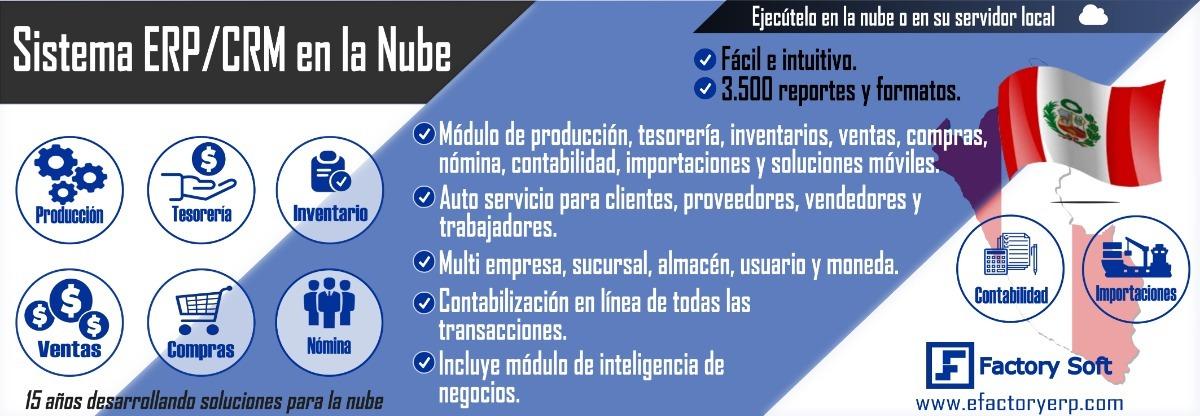 Efactory Software Erp Crm En La Nube O Local En Perú