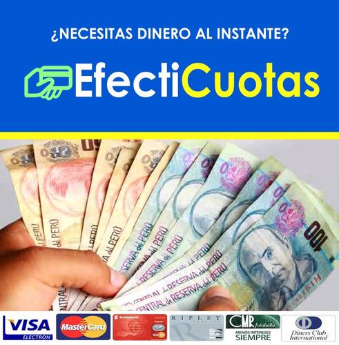 efecticuotas efectivo con tarjeta de crédito