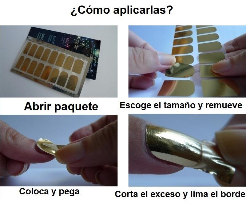 Efecto Espejo Para Tus Uñas Estampas Plata Dorado Oro - $ 80.00 en ...