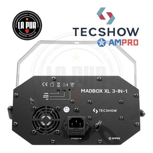 efecto híbrido tecshow by ampro - madbox xl 3-in-1