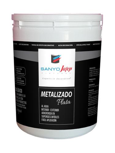 efecto metalizado plata 1 litro sanyo jafep envíos + promo