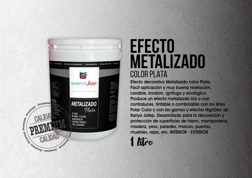 efecto metalizado plata 1l 25%off sgda unidad envíos gratis*