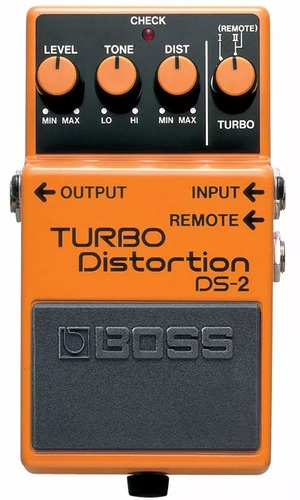 efecto pedal boss ds2 turbo distorsion overdrive analogo