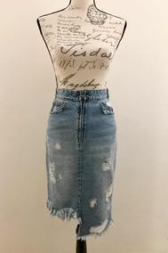 f74026a30 Efekto Moda Falda Mezclilla Zara Talla 0 - 24 - Xs