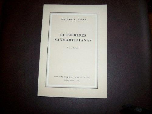 efemerides sanmartinianas 3° edicion por jacinto yaben