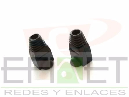 efi-acccable24 - cubierta de plastico negra para rj45