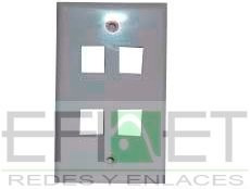 efi-accredfa04 placa d pared recta 4puertos caja c/50pzas