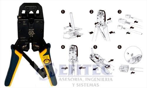 efi-accredpi12 pinzas d ponchado p/rj45 y rj11 modelo