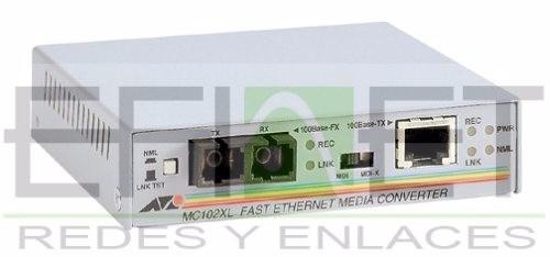 efi- at- mc102xl - allied telesyn convertidor de medios