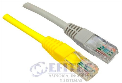 efi-cautp510 cable ponchado utp cat 5e, 10 mt