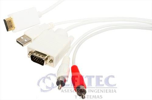 efi-hdvg2rcausb cable convertidor hdmia vga+2 rca+usb