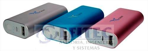 efi-powb48azusb power bank 4800 mah, azul sandblast