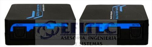 efi-toslspl1x5 splitter toslink 1x5 de audio digital