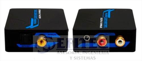 efi-tosltorca35 toslink a rca+audio 3.5 +cabl rca