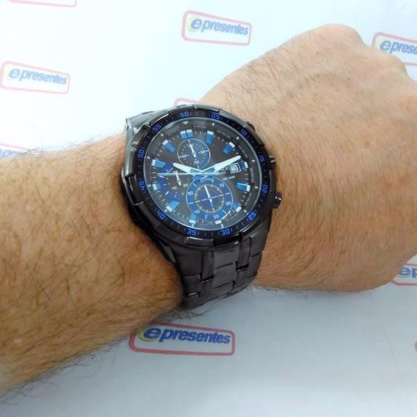 b4dcf1fac20 Efr-539bk-1a2 Relógio Casio Edifice Black Ip 100% Original - R  694 ...