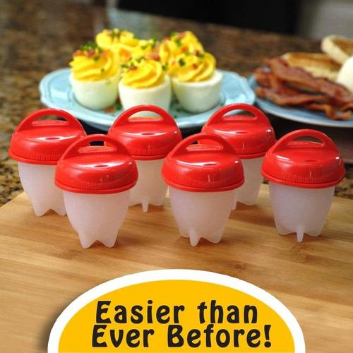 egglettes egg cooker -huevos duros sin cáscara,6de silicone