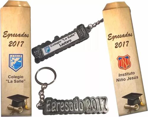 egresado 2017 llavero con nombre mas estuche con logos l2