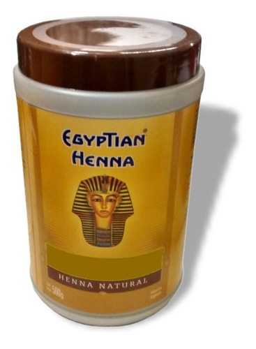 egyptian henna 500g tonos castaño dorado - marron