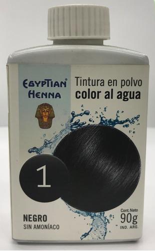egyptian henna color al agua 90 gr n° 01 negro