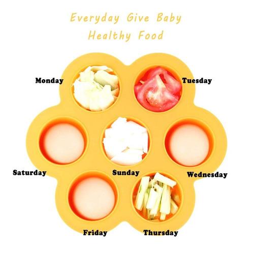 eh - vida silicona bandeja congelador alimentos para bebé c