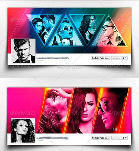 eh4hd 5 portadas de facebook editable en photoshop diseñador