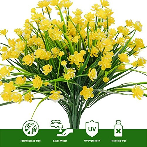 Ehand Artificial Fake Flowers Faux Narcisos Amarillos Al 83900 - Narcisos-amarillos