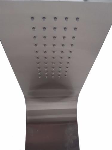 eiffel columna escocesa de ducha de 6 jets acero inox mate