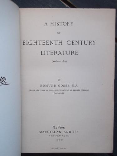 eighteenth century literature 1669-1780 edmund gosse 1889
