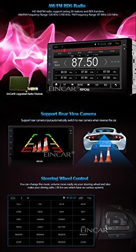 eincar android 51 7  pantalla tactil capacitiva car radio es