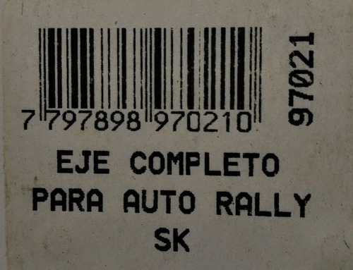 eje completo auto rally tipo scalextric 1/32 sk 97021