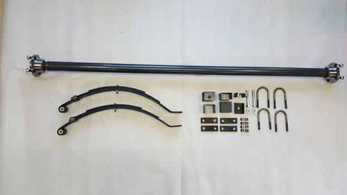 eje + elasticos + agarraderas trailer