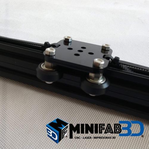 eje lineal de 40cm recorrido perfil aluminio minifab cnc imp