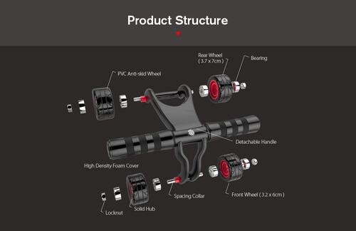 ejercicio rueda abdominales roller gym buena calidad